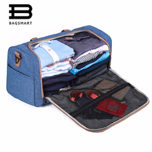 BAGSMART Designers Bag Weekend Travel Bag For Men and Women Shoes Holder Travel tote( black,blue,grey)(China)
