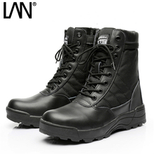 [send socks as gift] Army Boots  Male Zipper Design Tactical Boots Delta SWAT Shoes For Men Black Military Boots