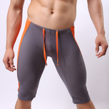 Sexy Mesh Board Shorts Men Swimwear Swim Shorts Beach Surf Short Bathing Suit Tight Man Long Trunks Swimming GYM Sport Clothing