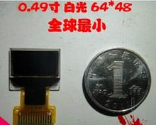 "Factory Outlet Smallest 0.49""OLED Screen Display Module 64x32 Dots SSD1306 Controller IIC I2C Serial White on Black"
