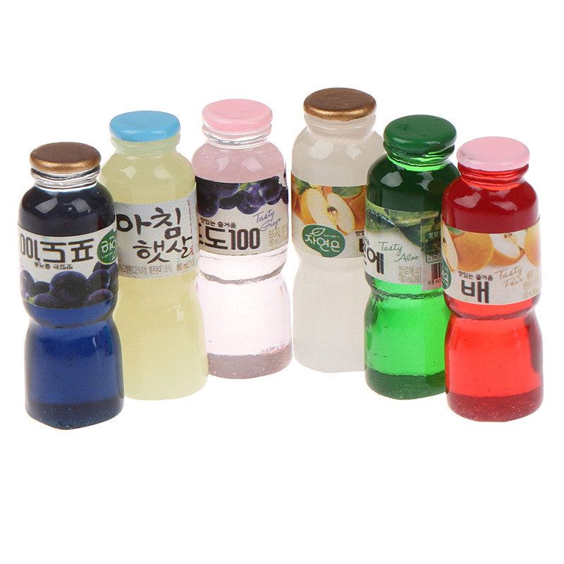 5Pcs 1//12 Miniatura Comida Fruta Mini Bebida Modelo para cozinha Casa De Boneca Para tki