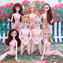 30cm 12 joints naked doll,toys for girls kids,pretty face princess famous brand,cheap price birthday gift exchange game princess(China)