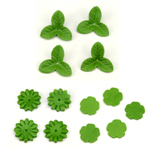 100pcs Mini Green Christmas Leaves Artificial Flower For Wedding Decoration Garland Rose Leaf Foliage Craft Cheap Fake Flowers