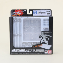 Bandai S.H.Figuarts Stage Act.4 for Humanoid Clear Body Kun Chan Grey Black Color Ver. Figure Stent Stand Set Bracket Toy