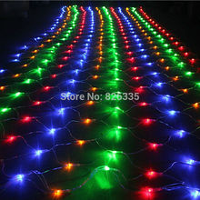 1.5m x 1.5m Garland LED Christmas 96 Leds Net Fairy Lights Party Wedding Decoration Twinkle String Lights with Controller(China)