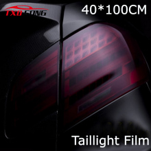 40cm x 100cm car styling Matte Black Headlight Film Tint Taillight Motorbike Headlight Rear Lamp smoked Tinting Film Matt smoke