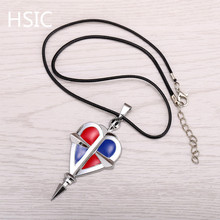 HSIC 10pcs/lot Dropshipping Anime Heart Necklace Pendants Rope Chain for Girlfriend Valentines Gift(China)