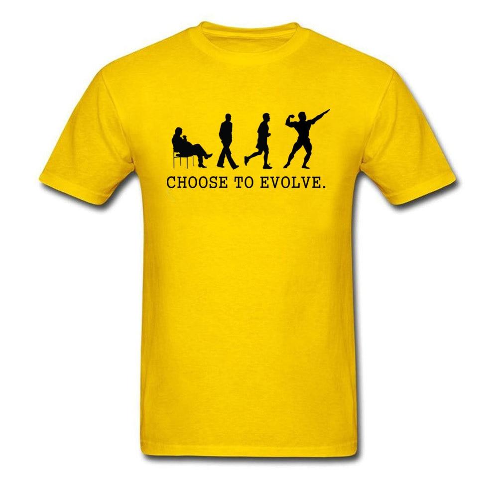 Choose to Evoe Tops Shirt Fashion O-Neck Printed Short Sleeve 100% Coon Fabric Student T Shirt Design Tee Shirts Choose to Evoe yellow