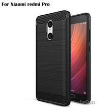 New For Xiaomi Redmi Pro Case Cover 5.5 inch Fashion Protective Phone Cases Accessories Style Hybrid Coque Carbon Fibre Brushed