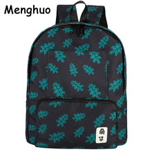 2017 New Women Leaves Cactus Printing Backpacks Mochila Rucksack Female Fashion Canvas Bags Retro Casual School Bags Travel Bags(China)