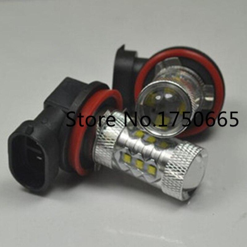2pcs/lot H8 80W CREE 16* LED High Power Pure White 6000K Fog Tail Headlight Bulbs Auto Driving Daytime Running Light Head Lamp<br><br>Aliexpress