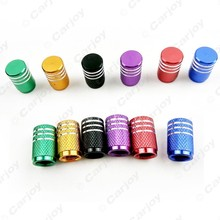 200pcs Auto Motorcycle Aluminum Alloy Wheel Tire Valve Stem Caps Dust Covers 6-Color Black/Red/Gold/Green/Blue/Purple #CA5485