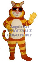 Cool Cat mascot costume new custom adult size cartoon tiger theme anime cosplay costumes carnival fancy dress kits