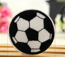 10 pcs/lot Wholesale Embroided Football  Sew On Iron On Patches Applique Badges DIY Accessory