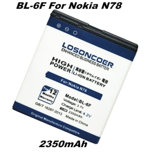 LOSONCOER 2350mAh BL-6F battery For Nokia N78 N79 6788 6788I N95 8G free shipping + track number