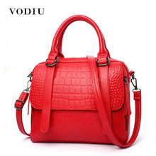 Buy Women Bags Leather Tote Shoulder Handbags Sling Messenger Crossbody Crocodile Red 2017 Hot Fashion Brand Female Handbags for $19.08 in AliExpress store