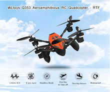 WLtoys Q353 RC Drone Dron RTF Air Land Sea Mode Headless Mode One Key Return RC Quadcopters Toys Radio Control Drone with Light(China)