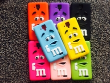 8 colors MMS Milk Chocolate Cartoon Beans Lovely Silicone Silicon gel skin Cell Phone Case Cover for Lenovo A 536 CASE soft new