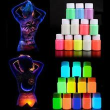 12 Colors Makeup Acrylic Glowing Face Body Luminous Painting Stage Glow in Dark Paint