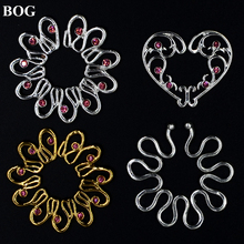 1 Pair Sexy Women Fashion Non Pierced Clip On Nipple Shield Ring Body Jewelry Cover Clamps Adult Sex Toy No Piercing Girl Gift