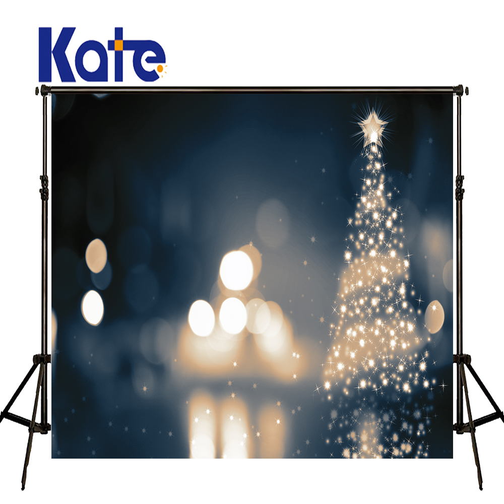 KATE Photo Background 5x7ft Kids Christmas Backdrop Bokeh Christmas Tree Backdrop Blue Kids Wall Photo Backgrounds for Studio<br>