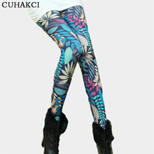 Plus size 2017 High Quality legging Women Universe Galaxy Printing Leggins Pants Elasticity Space Tie Dye Milk Silk Legging K090