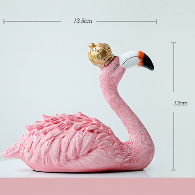 Vacclo 1pc ins Creative House Decoration Flamingo Ornament for The Wedding Gift Birthday Party Weeding Decoration Party Supplies 6