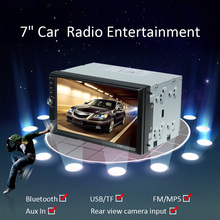 "Universal 2 Din 7"" Car MP5 Player Car Autoradio Video Mutimedia Player double din Car radio with display Rear View Camera Input(China)"