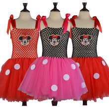 2017 Summer Style Girls Cartoon Tutu Dress Children Kids Fluffy Tulle Dresses Kids Clothing Baby Kids Vestidos Kitty/Mouse/Pig