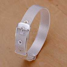Free Shipping Wholesale fashion jewelry silver color bracelet,silver plated bracelet  10mm Mesh men bracelet Wholesale SMTH237