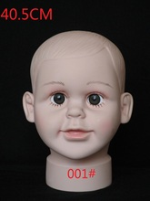 High quality Unbreakable Realistic PE baby mannequin dummy head kid Manikin head  for hat display