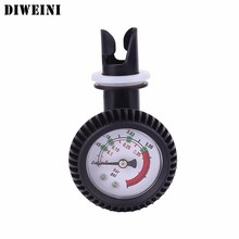 DIWEINI Pressure Gauge Air Thermometer For Inflatable Boat Kayak Test Air Pressure Valve Connector SUP Paddle Board Surfing