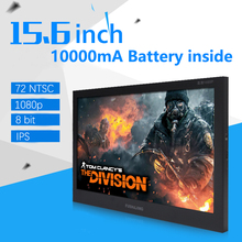 10000mA 2ms 15.6 inch 1920x1080 IPS LCD Screen Aerial Monitor 60Hz 8bit Portable Game Display HDMI Car MP4 Player Xb PS4 1080P