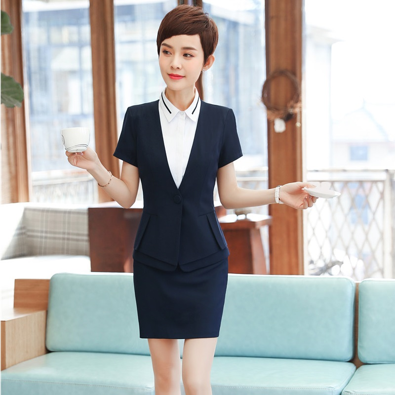 2018 New Chic Fashion Temperament Suit Skirt Women Two Piece Runway Skirt Suits Office Ladies Long Sleeve Blazer Grid Skirt Set