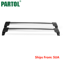 "Partol Car Roof Rack Cross Bars Roof Luggage Carrier Roof Rail Bike Rack with anti-theft lock For 114cm~126cm 44.9"" ~ 49.6""(China)"