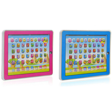 Spanish Learning Machine Kid Laptop Computer with LED Music Spanish Alphabet Pronunciation Learning Education Toys Computer