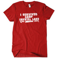 2017 Direct Selling Rushed Fashion Tee4u Custom Shirt Design Short-sleeve Summer Survived Camp Crystal Lake Tee For Men
