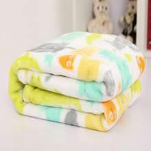 Firstlight embossed small knit plaid printed thick 2-layers flannel fleece blanket for baby high quality 35 by 50 inches