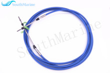 Outboard Engine ABA-CABLE-20-GY Remote Control Throttle Shift Cable 20ft for Yamaha Motor Boat Steering System Blue 6.10m