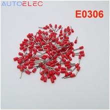 100PCS AWG#24 E0306 Ferrule Terminal Cord End Terminal Set Copper Wire Copper Insulated Crimp Connector Cord Pin End Terminal(China)