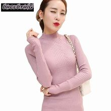 Buy OHCLOTHING 2018 new fashion women turtleneck knitted sweater female knitted slim pullover ladies all-match basic thin for $13.00 in AliExpress store