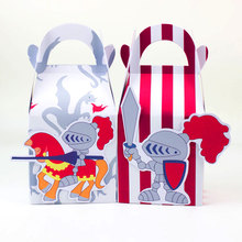 Knights In Armor Favor Box Candy Box Gift Box Cupcake Box Boy Kids Birthday Party Supplies Decoration Event Party Supplies(China)