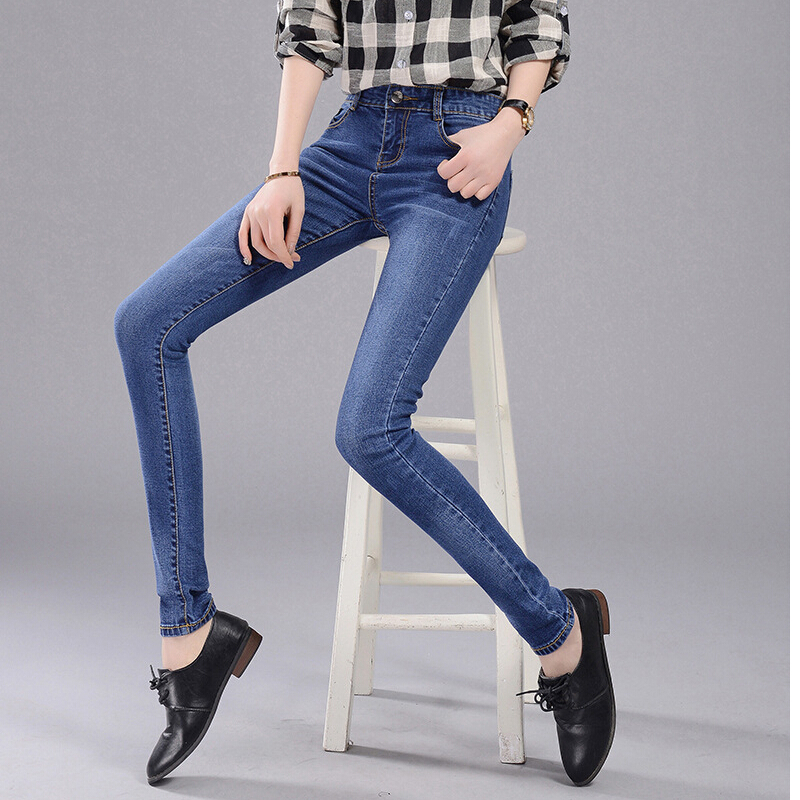 2016 new spring autumn fashion Korean denim jeans women pencil casual denim stretch skinny slim jeans pants plus size AB110Одежда и ак�е��уары<br><br><br>Aliexpress