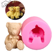 Lovely Bear Silicone Mold Soap Mold Fondant Cake Decorating Tools Sugarcraft Cake Chocolate Jelly Mold Gum Paste Candle Mould