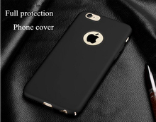 Luxury Ultrathin Matte Full Protect Phone Cover Top quality soft handle PC case cover For iPhone 6 6S Plus 7 7 Plus iPhone7(China)