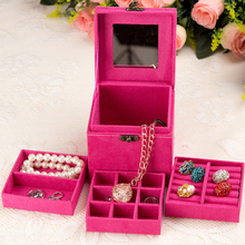 Multi Layer Jewelry Box For dresser Make Up Organizer Jewelry Display Case Storage Box Cosmetic Organizer Birthday Gift For Girl