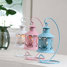 2017 new warmer metal lantern candle holder  European home decor creative crystal fragrance centerpiece large decorative candles