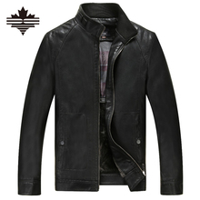 Spring And Autumn Man Leather Jackets Casual PU Leather Coats Men's Motorcycle Jacket Male Faux Sheep Skin Motorcycle Clothing