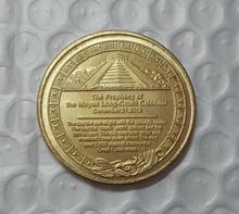 Mayan 2012 Prophecy gold Coin  Free Shipping