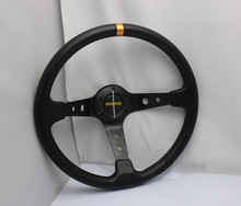 Hot 2015 Universal MOMO steering wheel 350mm high-quality black